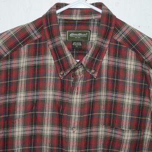 Eddie bauer flannel mens shirt size XL J767